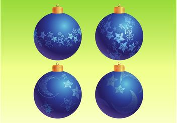 Blue Christmas Ornaments - vector gratuit #142933