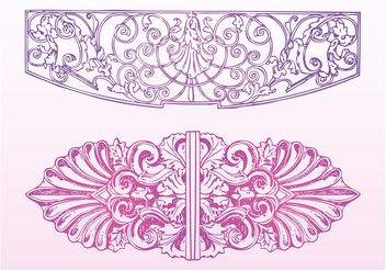 Floral Ornaments Decorations - Free vector #142943