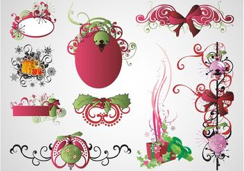 Vector Christmas Designs - Free vector #142973
