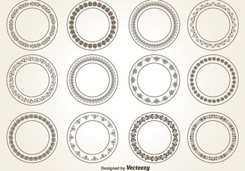 Decorative Circle Ornaments - vector gratuit #143023