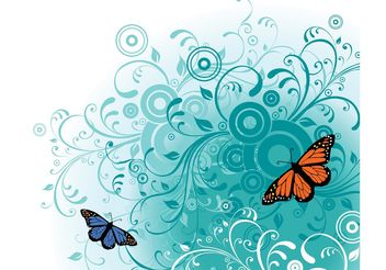 Free Butterfly Vector Art - Kostenloses vector #143073