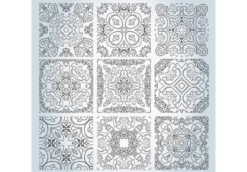 Outline Pattern Vectors - Free vector #143153