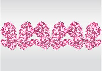 Pink Lace Vector - Free vector #143173