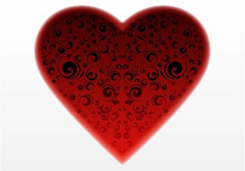 Dark Heart Vector - Free vector #143193