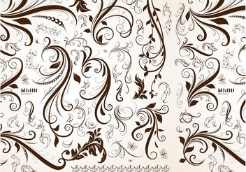 Retro Floral Pattern - Free vector #143223