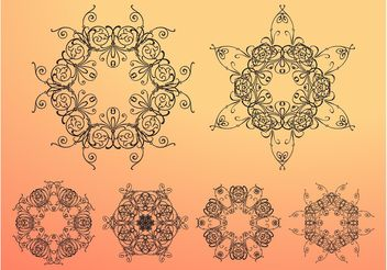 Antique Flowers - Free vector #143233