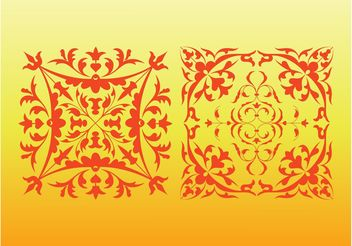 Floral Decorative Ornaments - Kostenloses vector #143273