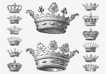 Crowns Drawings - бесплатный vector #143313