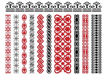 Retro Borders - vector #143333 gratis