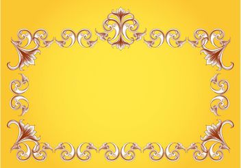 Flourishes Frame Vector - Free vector #143473