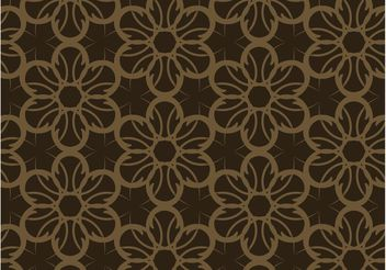 Dark Floral Pattern - Free vector #143493