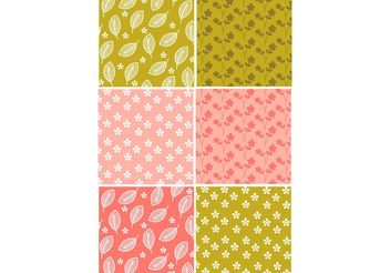 Floral Pattern Set - Free vector #143513