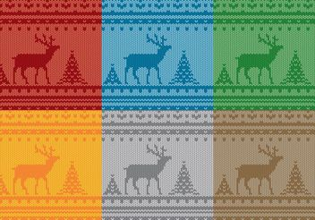 Christmas Reindeer Sweater Patterns - Free vector #143553