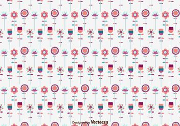Hand Drawn Floral Pattern - vector gratuit #143593