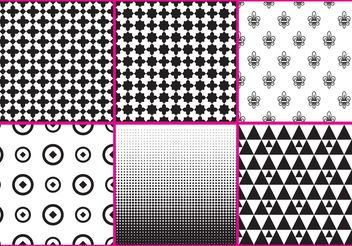 Black And White Patterns - vector gratuit #143653