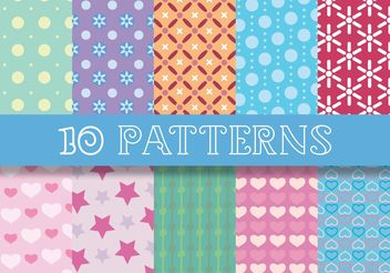 Chic Patterns - vector gratuit #143713