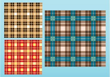 Checkered Patterns Vector - vector #143803 gratis