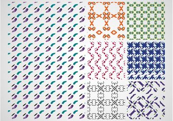 Colorful Patterns Design - Free vector #143813