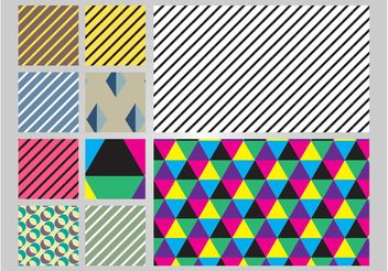 Colorful Seamless Patterns - Free vector #143833