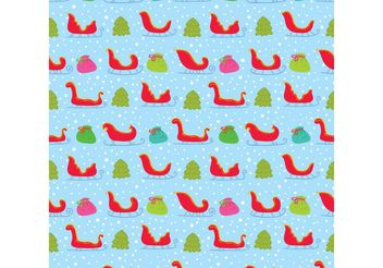Colorful Santa's Sleigh Vector Seamless Pattern - Free vector #143863