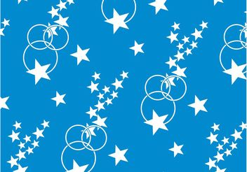 Stars And Circles Pattern - Free vector #144033