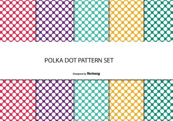 Colorful Polka Dot Pattern Set - бесплатный vector #144103
