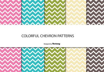 Chevron Pattern Set - Free vector #144113