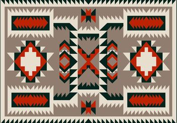 Navajo Pattern Carpet Vector Design - Free vector #144123