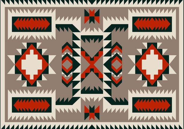 Navajo Pattern Carpet Vector Design - Kostenloses vector #144123