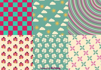 Spring and Summer Vector Patterns - Kostenloses vector #144173