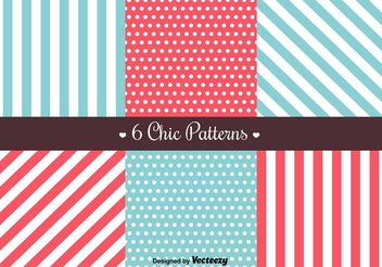 Free Retro Patterns - vector gratuit #144193