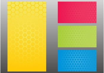 Honeycomb Patterns - vector gratuit #144233