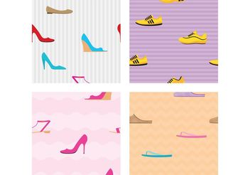 Shoe Vector Patterns - Free vector #144243