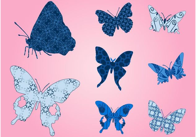 Butterflies With Patterns - vector gratuit #144333