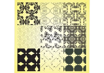 Decorative Patterns - vector gratuit #144363