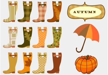 Autumn Boots - Free vector #144403