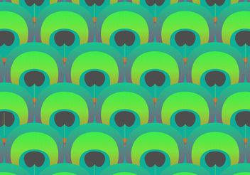 Peacock Pattern Vector - Free vector #144433