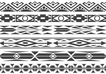 Free Monochrome Native American Pattern Vector Borders - vector gratuit #144453