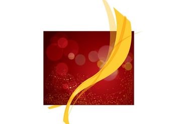 Red Background Vector Yellow Ribbon - бесплатный vector #144513