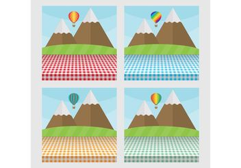 Picnic Table Landscapes - Free vector #144673