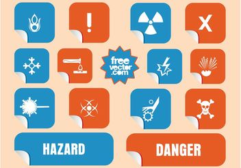 Danger Stickers - бесплатный vector #144793