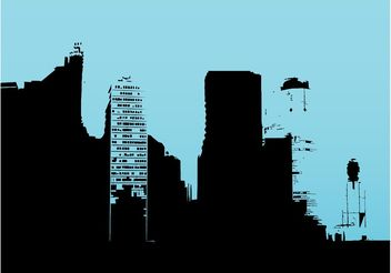 Buildings Outlines - vector gratuit #144823