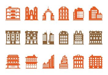 Buildings Graphics Set - Free vector #144833