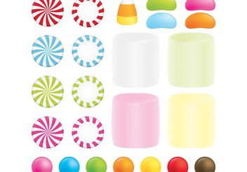 Peppermint Candy Vector Set - Free vector #144843
