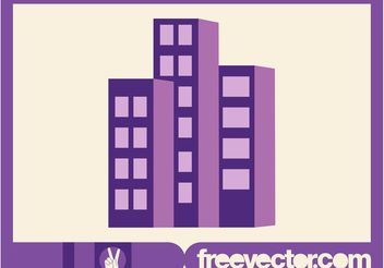 Stylized Apartment Buildings - vector gratuit #144883