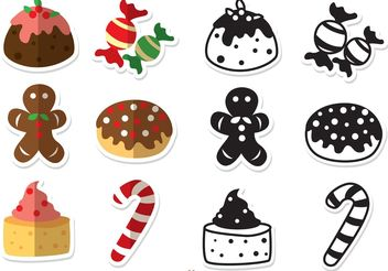 Christmas Desserts Vectors Pack - бесплатный vector #144893
