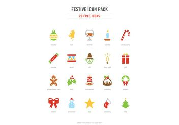 Festive Icon Vector Pack - бесплатный vector #144913