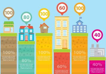 Buildings Infographic Vectors - vector gratuit #144933
