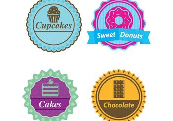 Candy Label Vectors - Free vector #144943