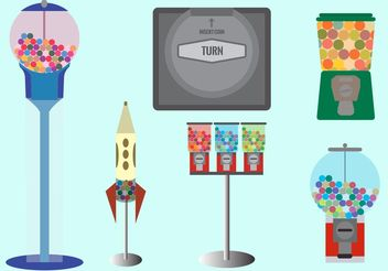 Bubble Gum Machines - бесплатный vector #145053